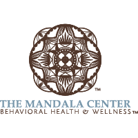 Transparent logo for The Mandala Center, a holistic health and wellness center located at Belvedere Square