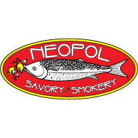"Logo of Neopol, with slogan ""savory and smokery"" located in Belvedere Square"