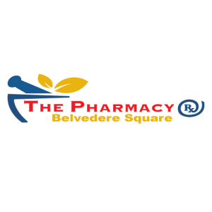 Logo for The Pharmacy, a new tenant located in Belvedere Square in Maryland.
