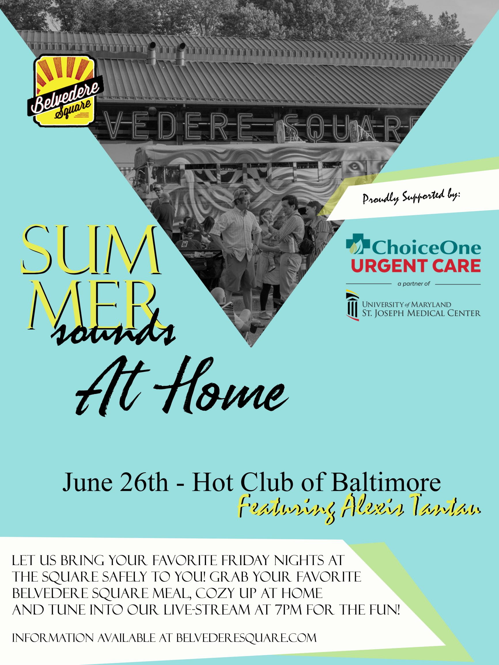 summer sounds at home flyer