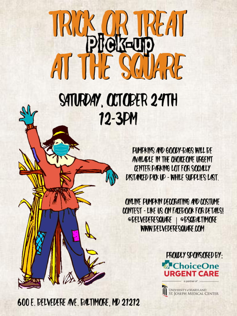 trick or treat pick up at the square bsq halloween event