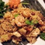 Seafood and vegetable Thai dish at Thai Landing in Baltimore, Maryland.