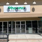 Outside view of Phoenix Physical Therapy's space within Belvedere Square in Baltimore, Maryland.